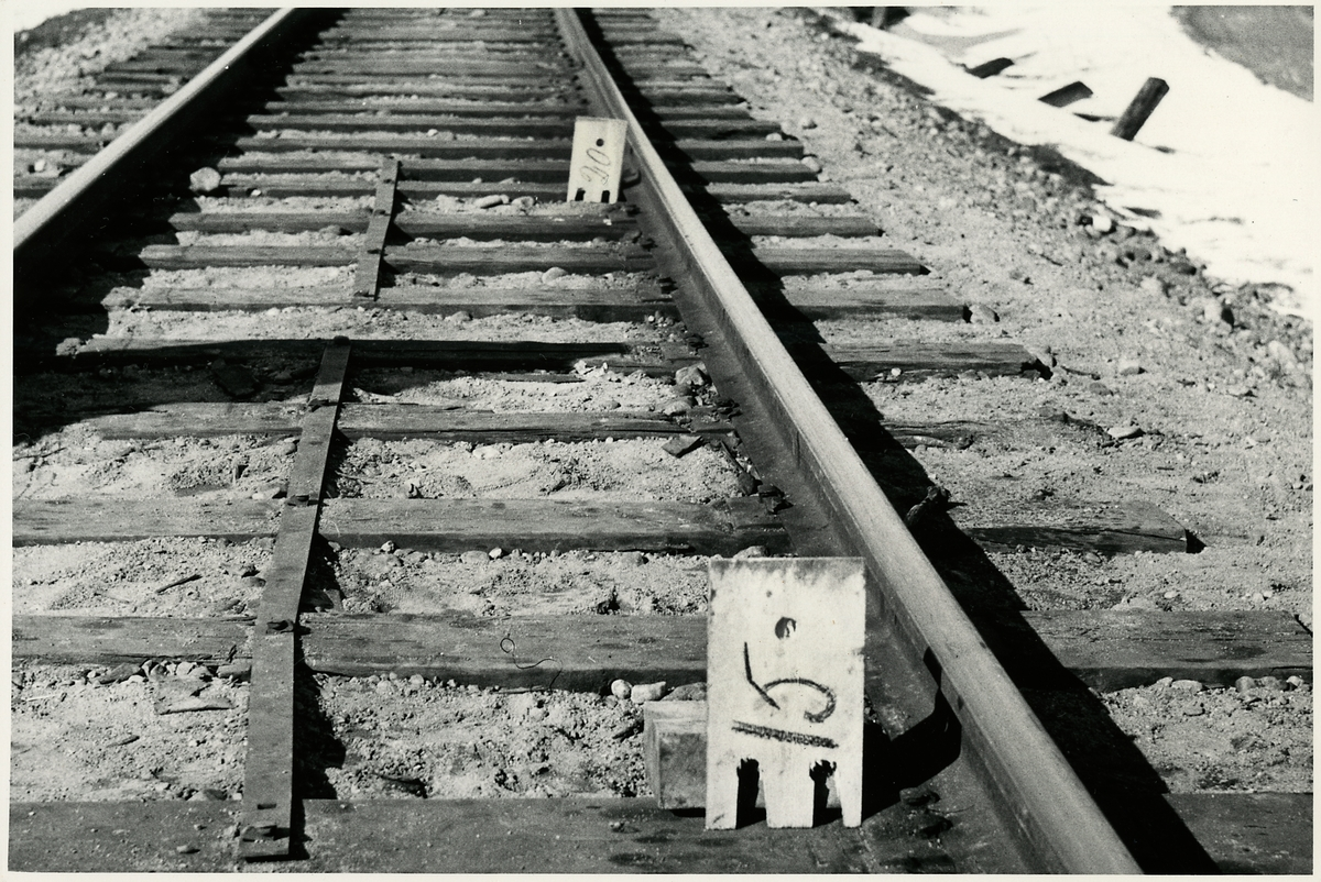 Del av järnvägsspår.