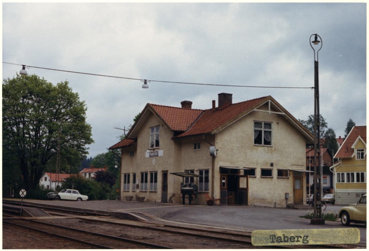 Vy över Taberg Station.