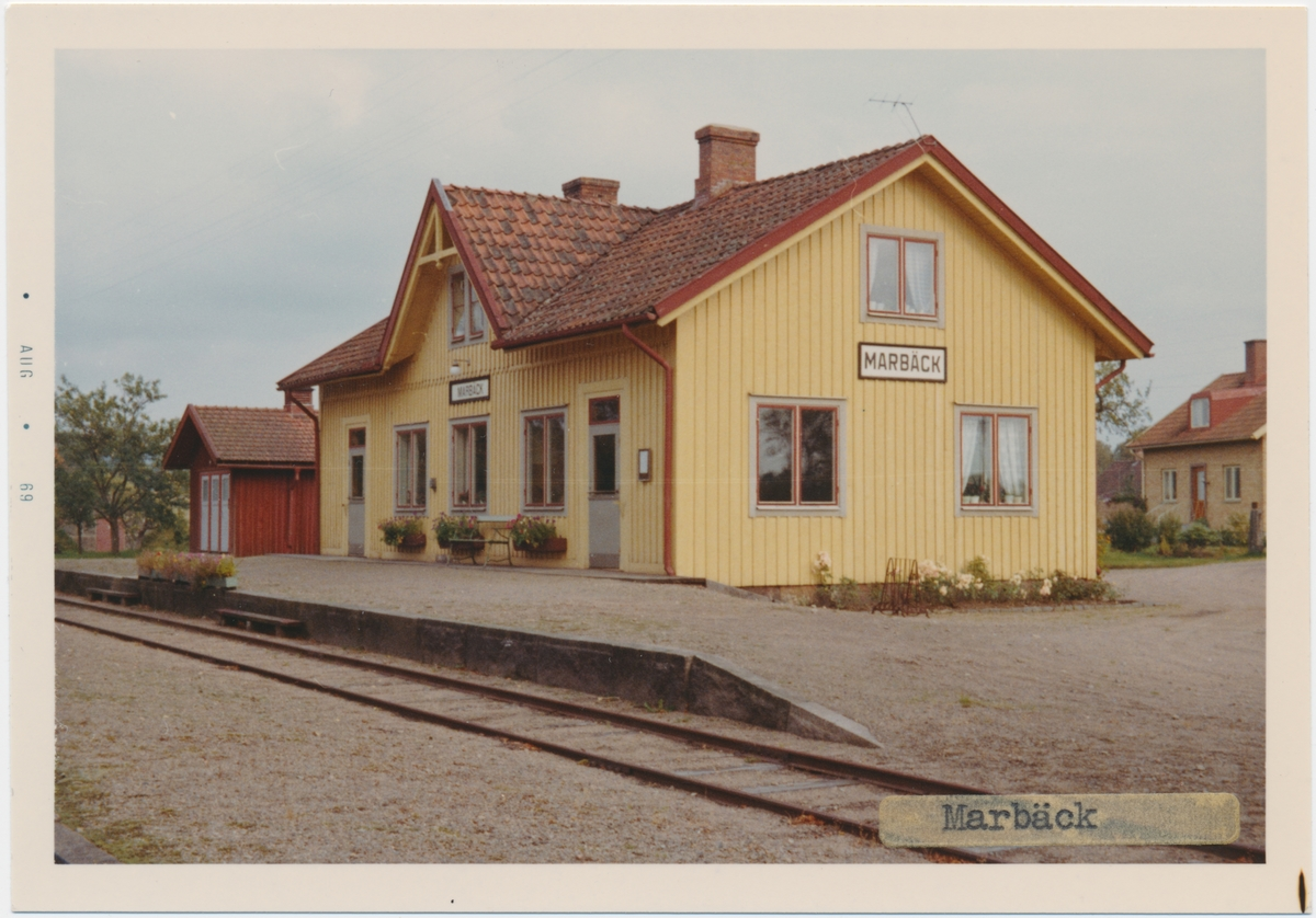 Marbäck station, byggd år 1889