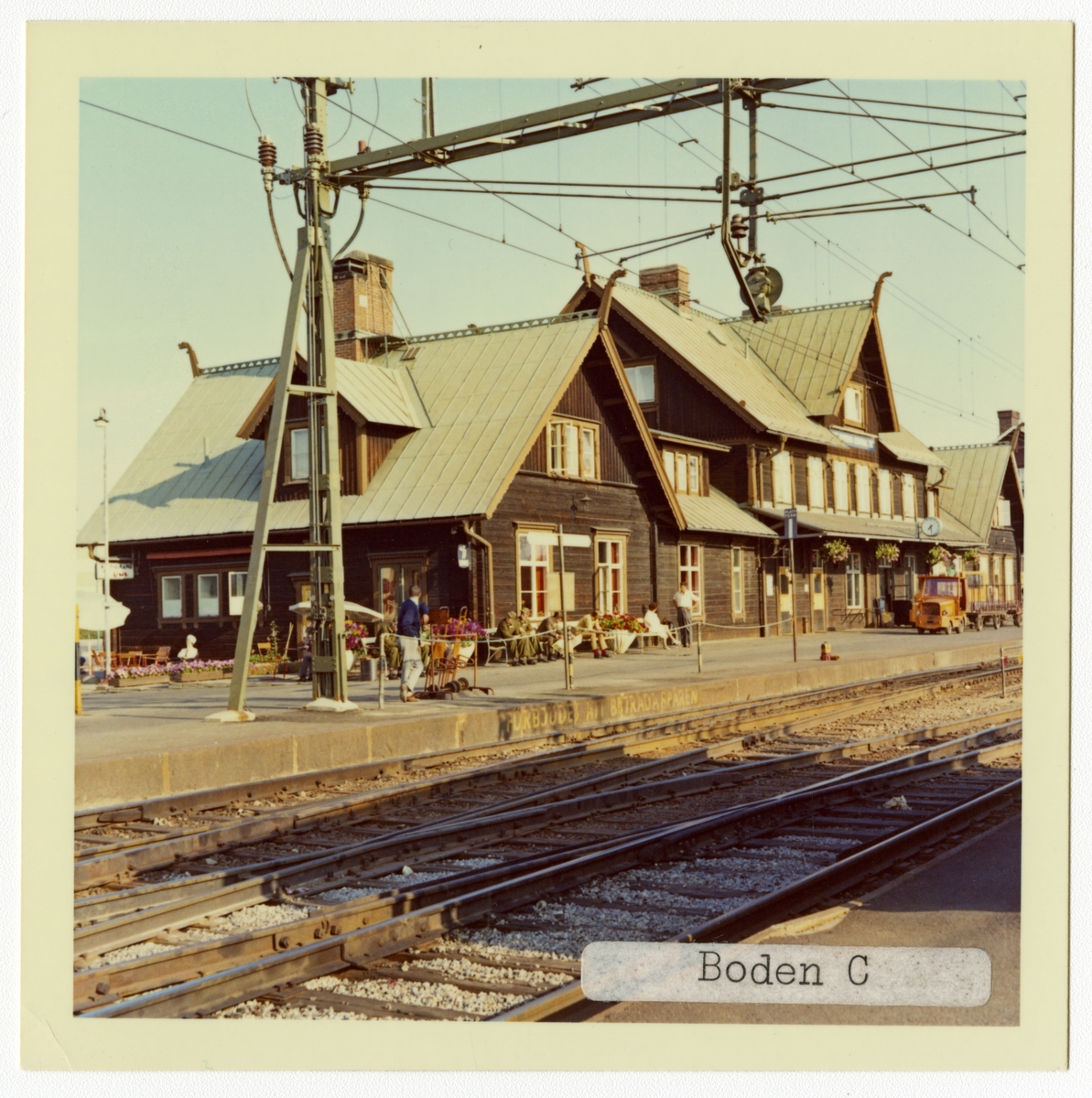 Stationen kallad BODEN CENTRAL 1926-05-15 - 1981-05-31. S&NJ, Sverige & Norge Järnväg