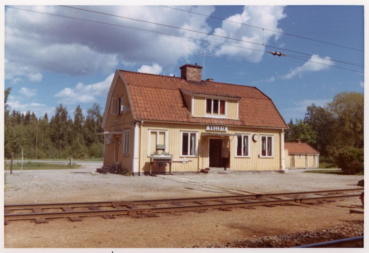 Vallvik station omkring år 1972.