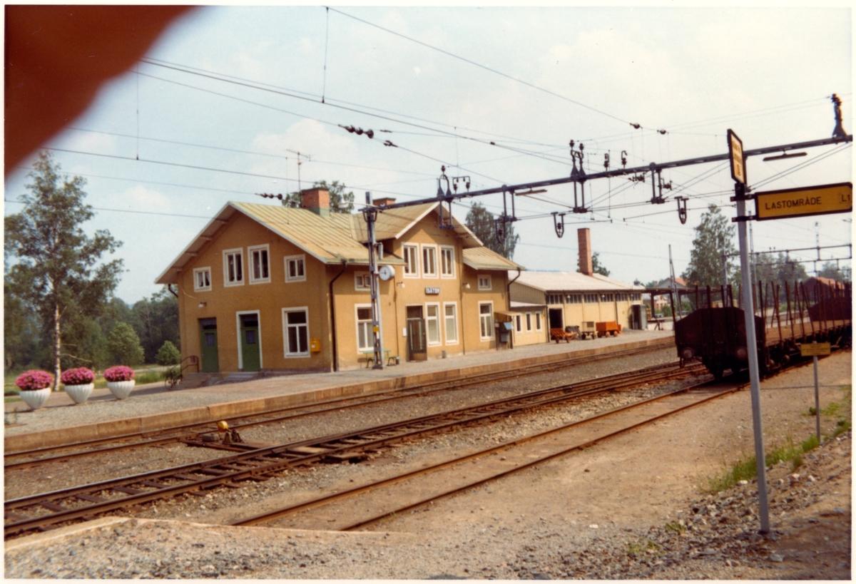 Säter station omkring år 1972.