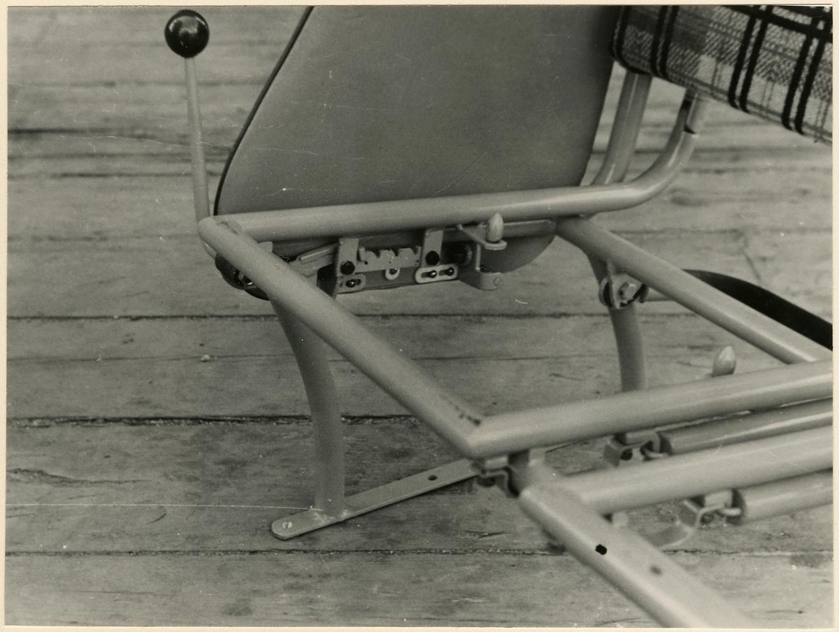 Detaljbild på stolställning till buss.