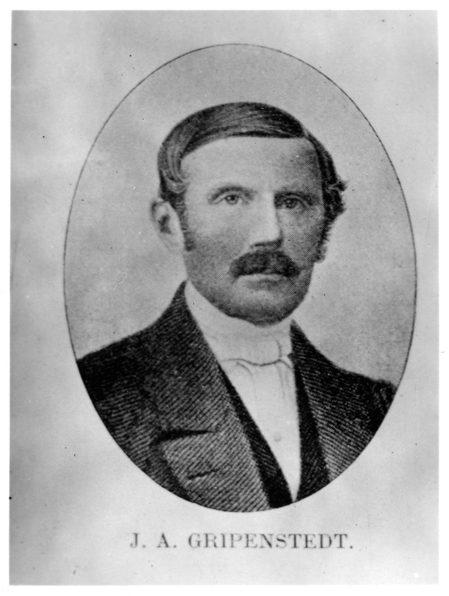 Friherre Johan August Gripenstedt.