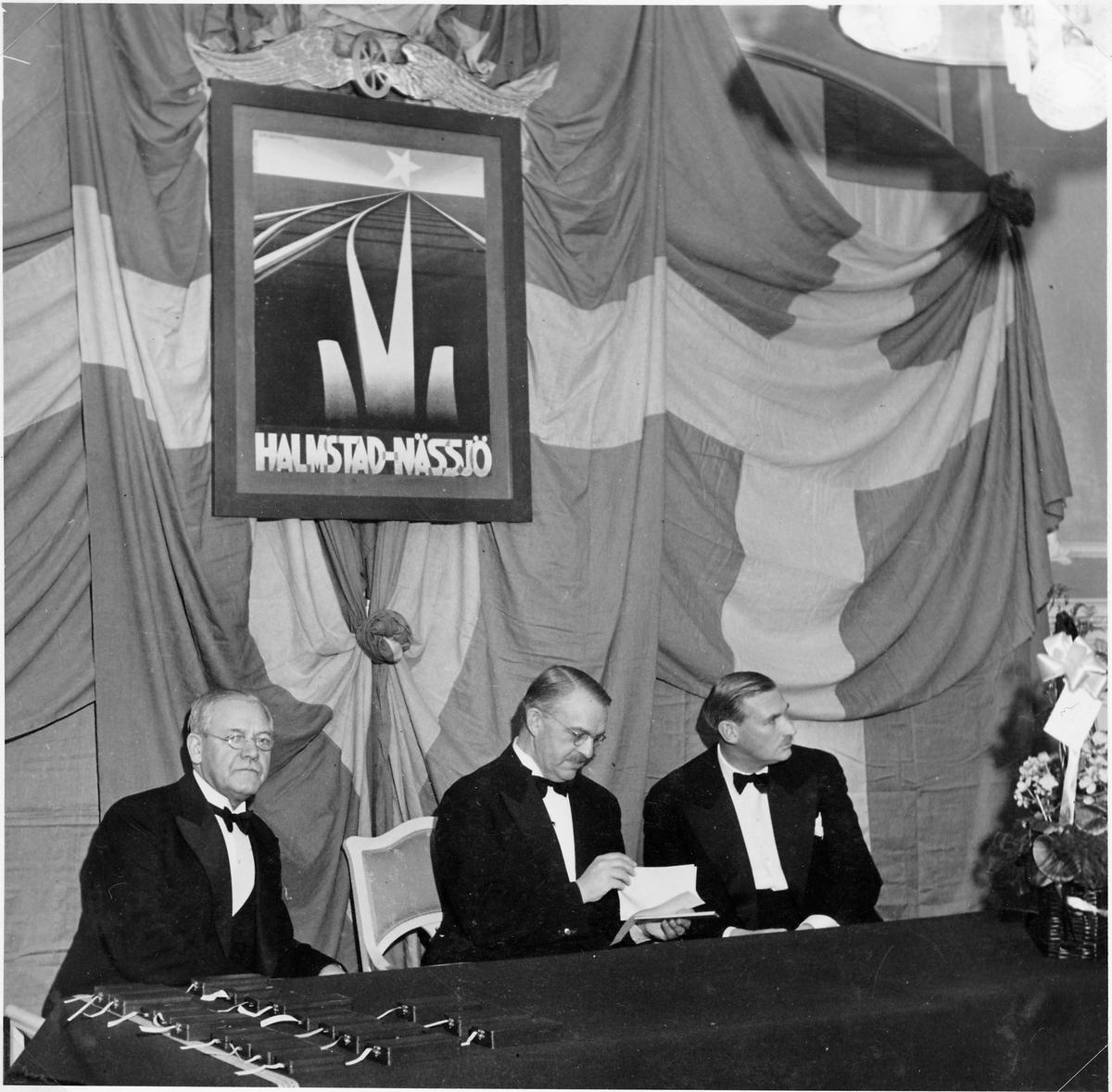 Halmstad - Nässjö Järnväg, HNJ:s medaljeringsfest på Grand Hotell i Halmstad.