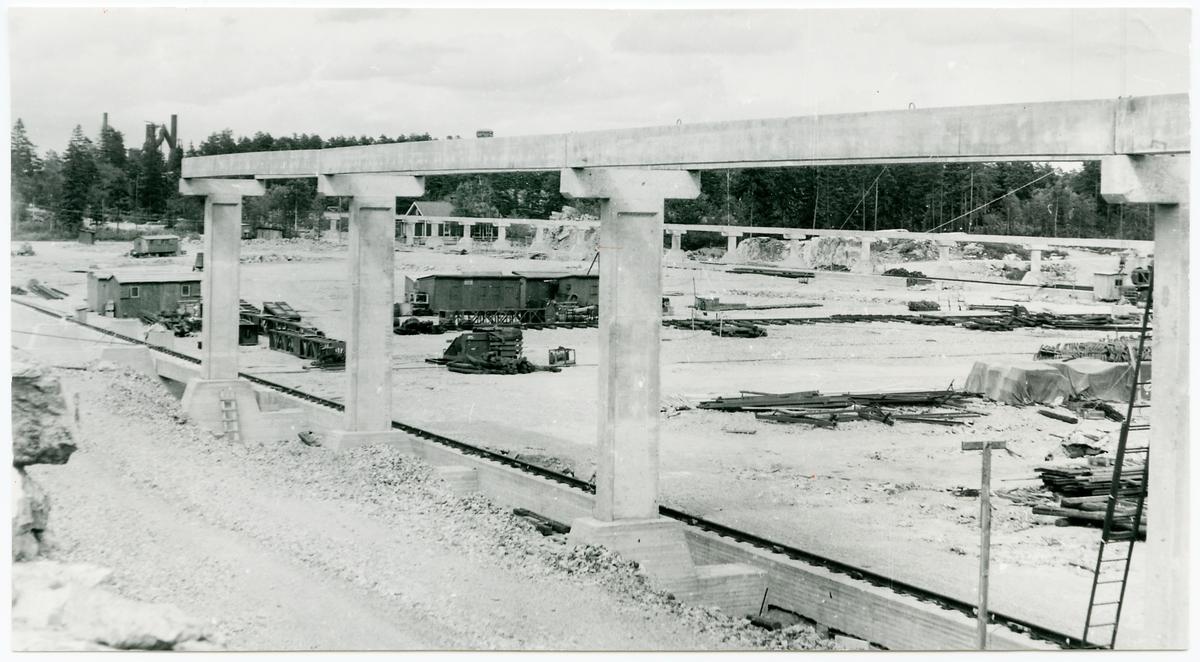 Transportanläggning under uppbyggnad i Oxelösund.