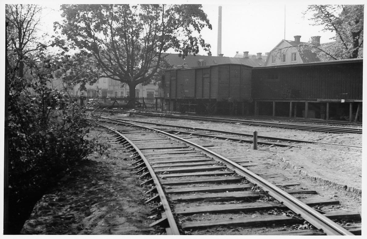 Slutet av bangården i Karlskrona.