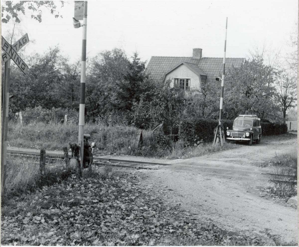 Järnvägsövergång vid Hurva Östra.