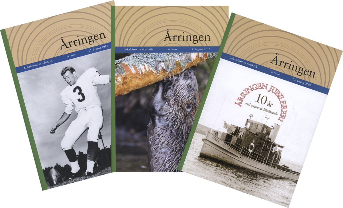 """Collage av forsider fra tidsskriftet """"Årringen""""."""