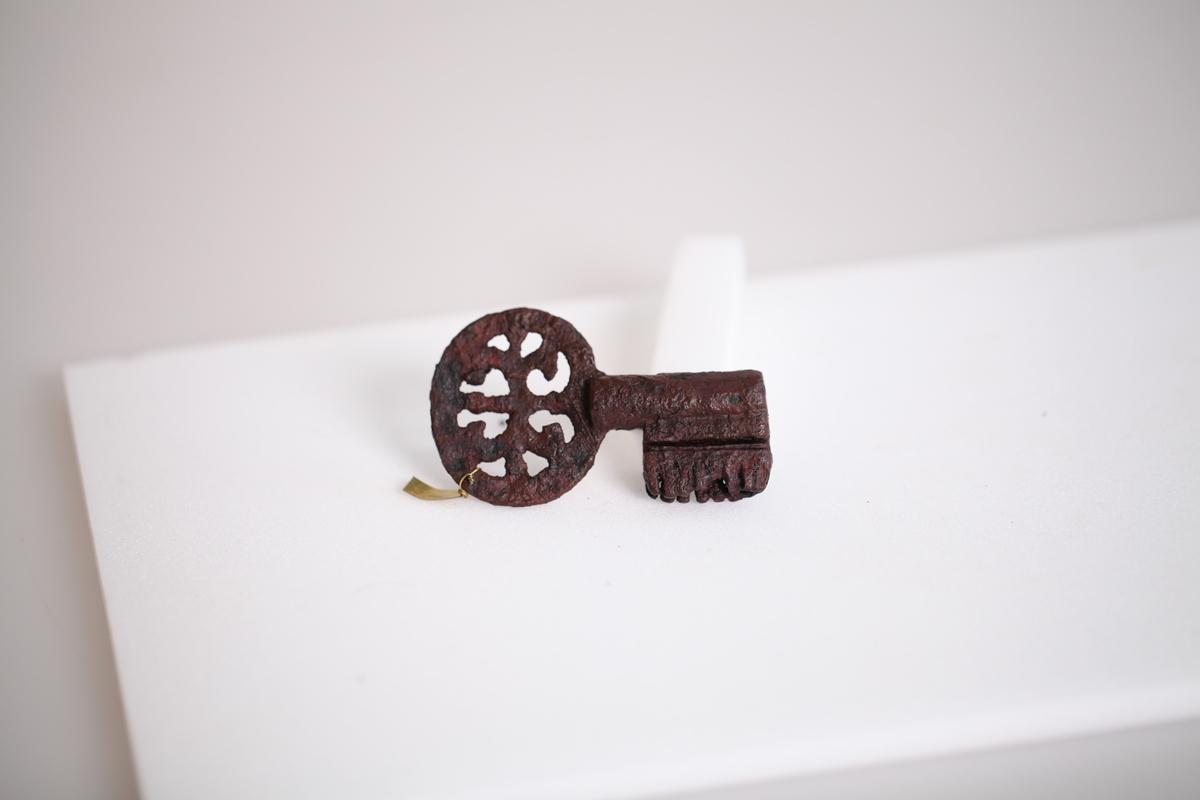 Nøkkel av jern fra middelalder funnet på Østre Kraby.