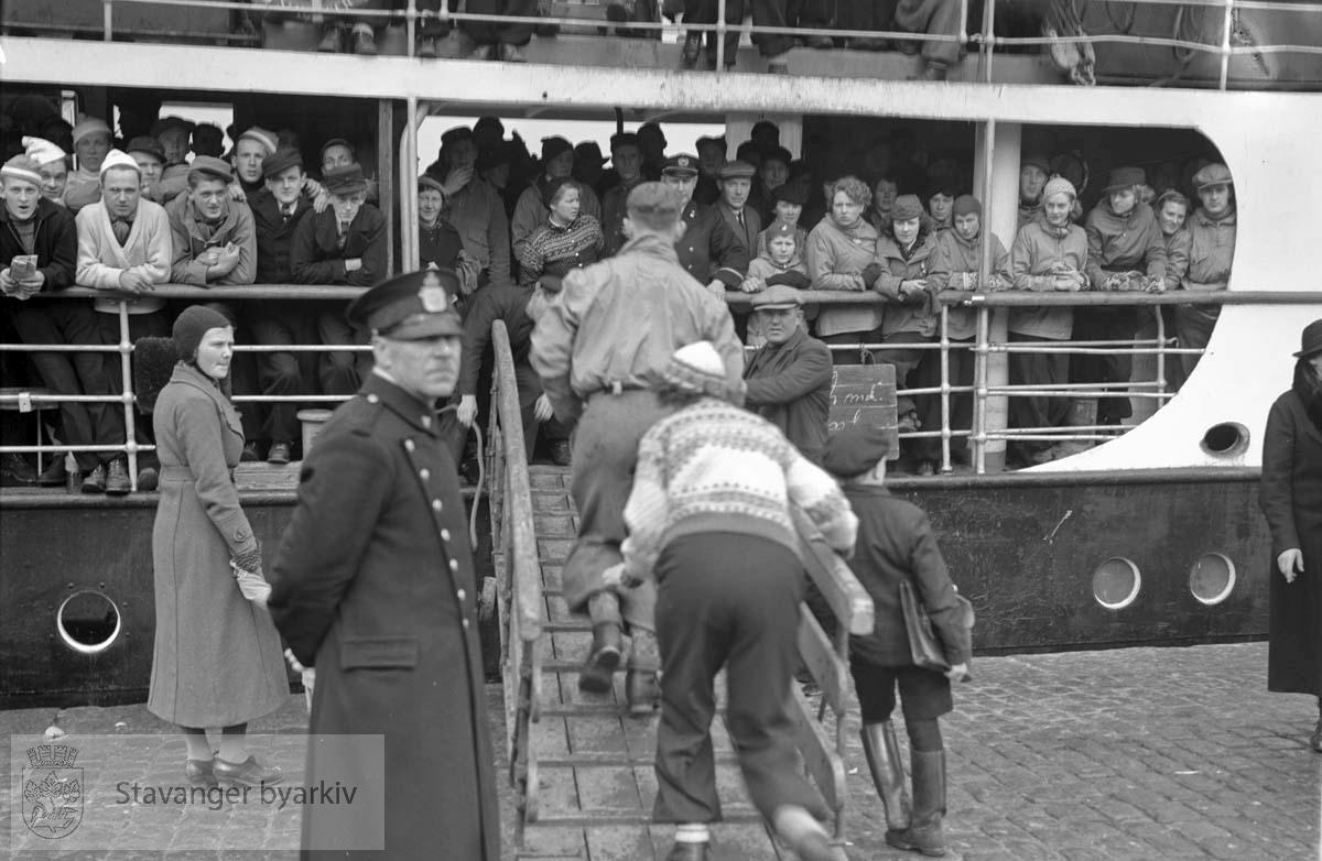 Påskebåt i Stavanger 23. mars 1937