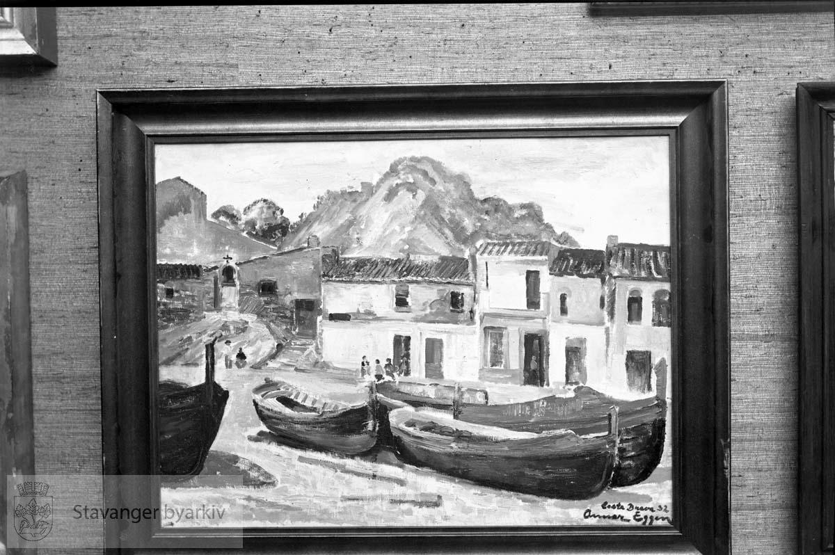 Maleri av fiskebåt, Eggen
