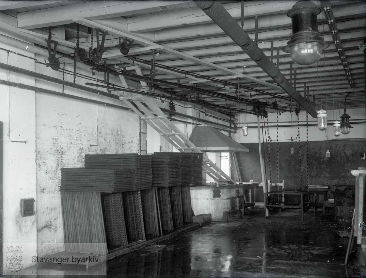 Interiør fra fabrikk