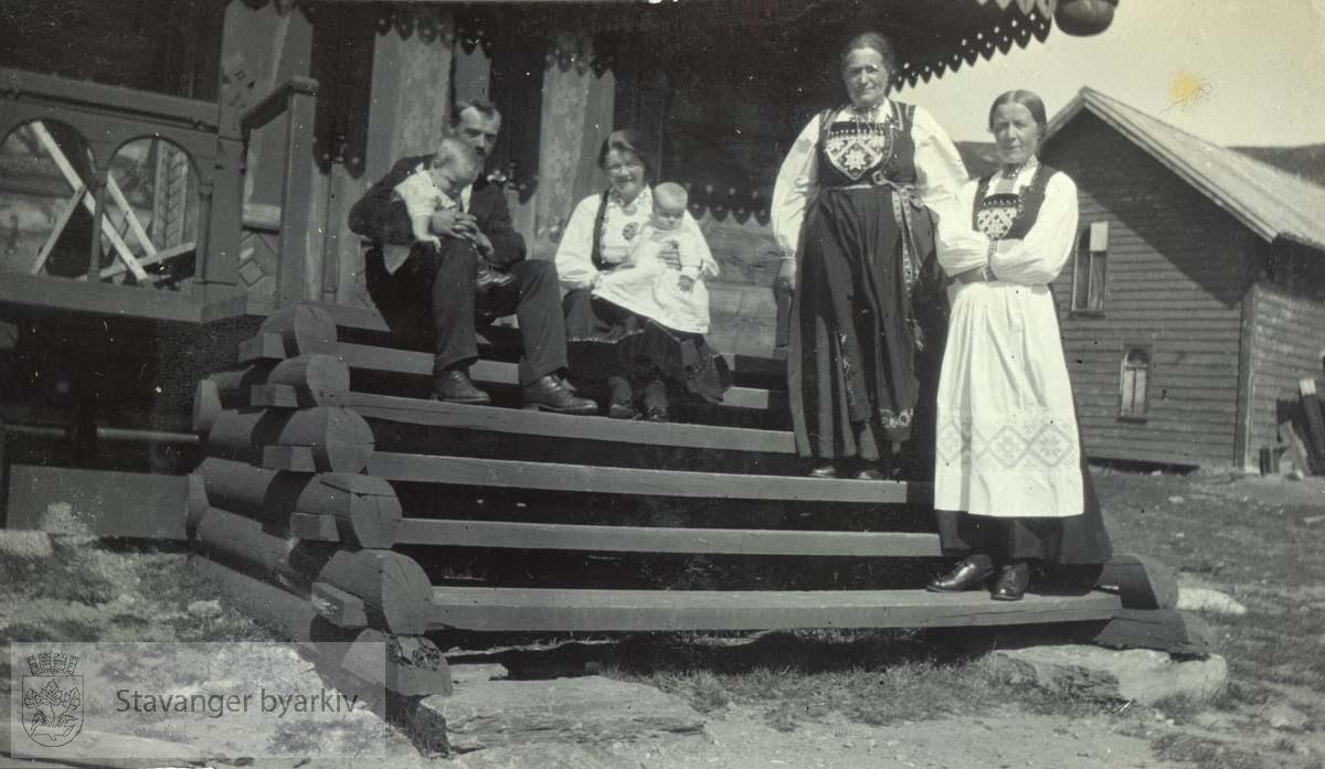 Tur til Haukeliseter, sommeren 1917