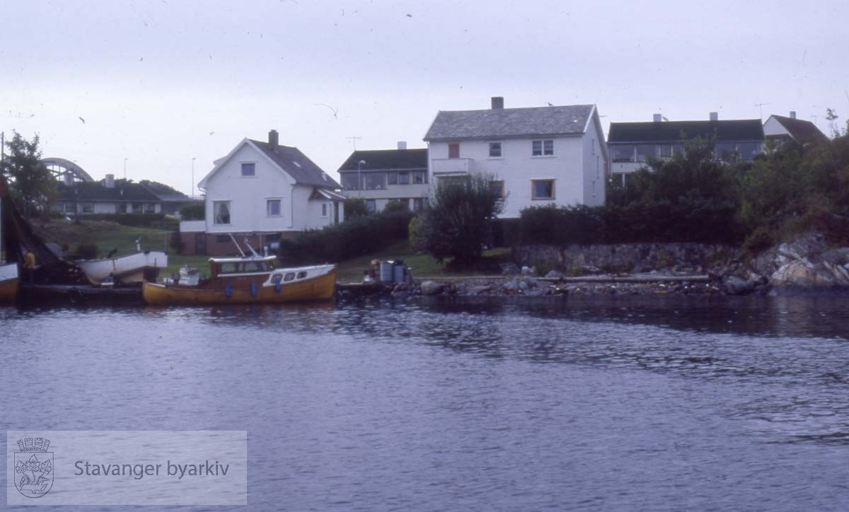 Hus på Engøy sett fra sjøen..Adresse ukjent.