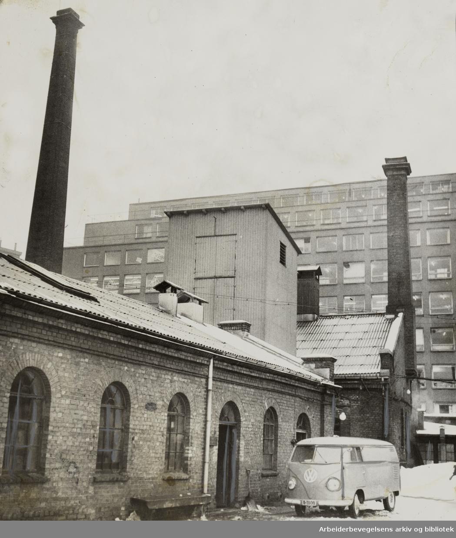Gassverket. Februar 1957