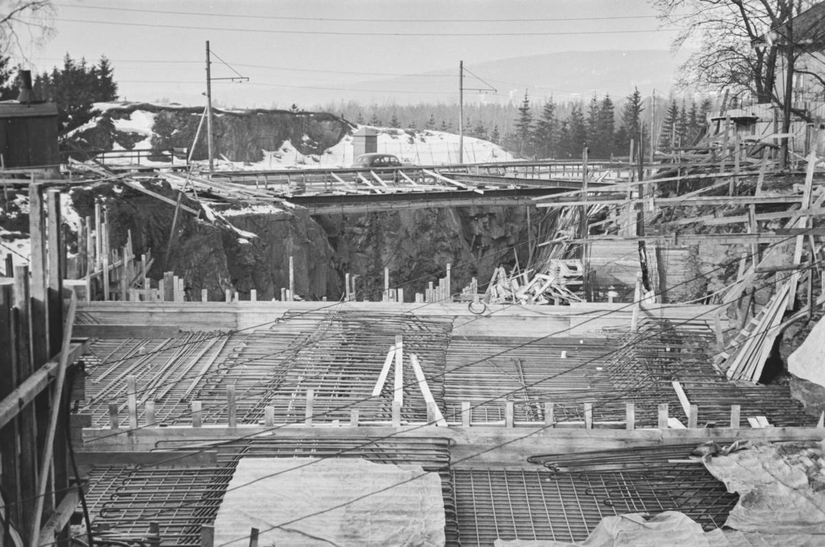 Bygging av Volvat-tunnelen på Røabanen.