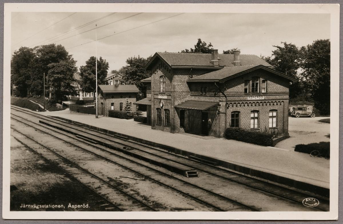 Järnvägsstationen Äsperöd.