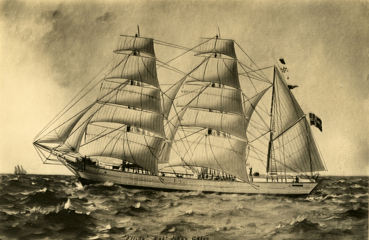 Bark 'Ellida' (b.1848, Paaske, Horten, Norge)