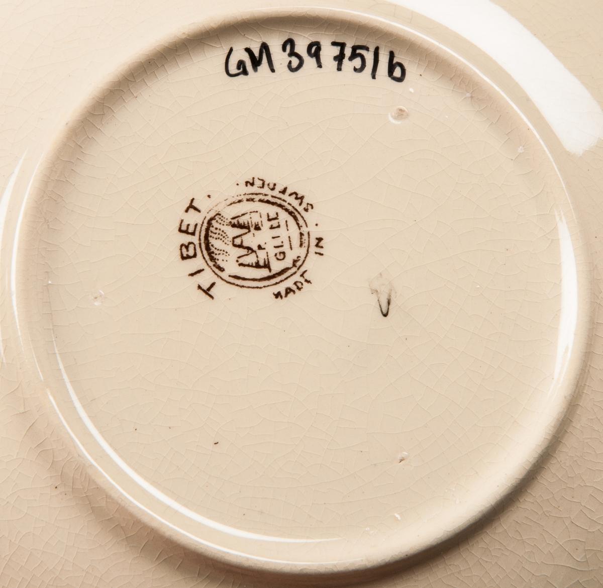 Kaffekopp med fat, modell AK, dekor Tibet.