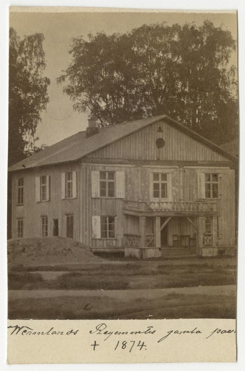 Värmlands regementes gamla officerspaviljong i Trossnäs, riven 1874(?).
