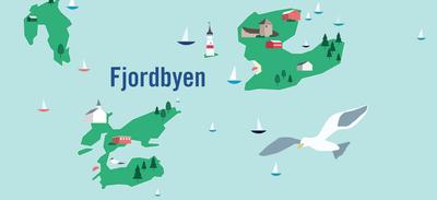 Fjordbyen illustrasjon