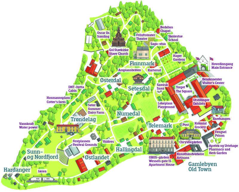 Nytt kart Friluftsmuseet