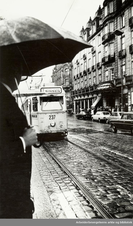 Karl Johans gate. August 1971