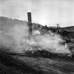 Torsten Söderbergs snickerifabrik i Lillro, Selånger, brann