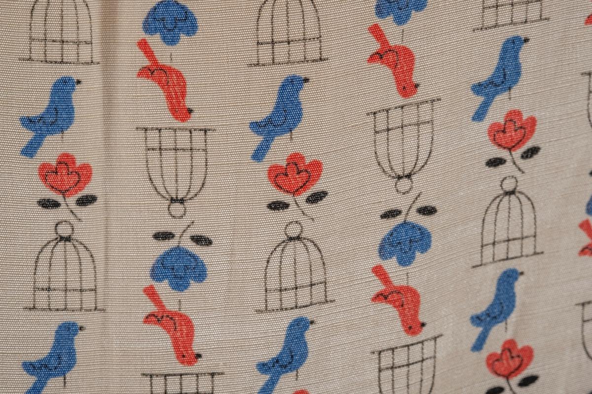 Fugler, blomster og fuglebur