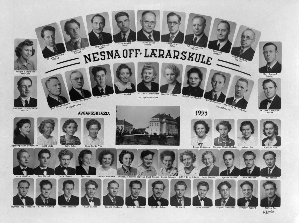 Nesna offentlige lærarskule - lærere og elever