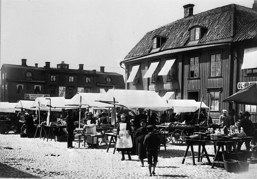 Stora torget, torgdag, Västerås.