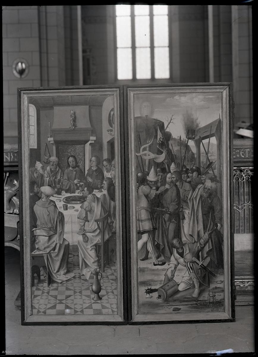 Altarskåp, detalj av Mariaskåpet i Västerås Domkyrka.