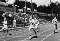 Hamar Stadion, distriktmesterskap i friidrett, 1961. Målpass