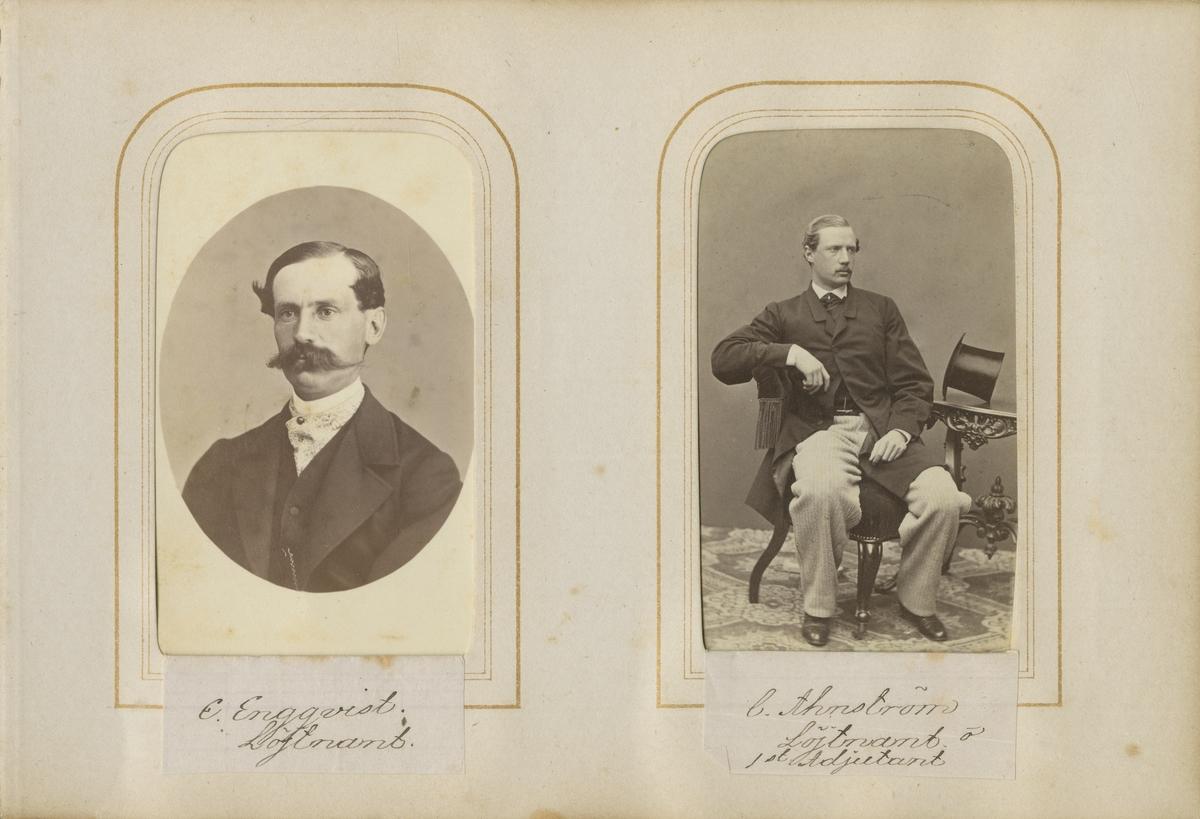 Porträtt av Carl Anders Georg Ahnström, överste vid Andra livgrenadjärregementet I 5.  Se även bild AMA.0001937.