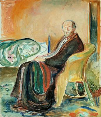 Selvportrett i spanskesyken, 1919