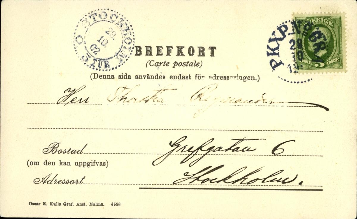 Vykort med motiv över Skönviks och Östrands sågverk.