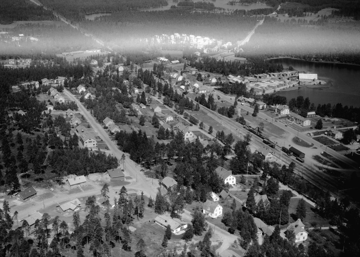 Flygfoto över Hestra i Gislaved kommun, Jönköpings län. Nr 1115/1961