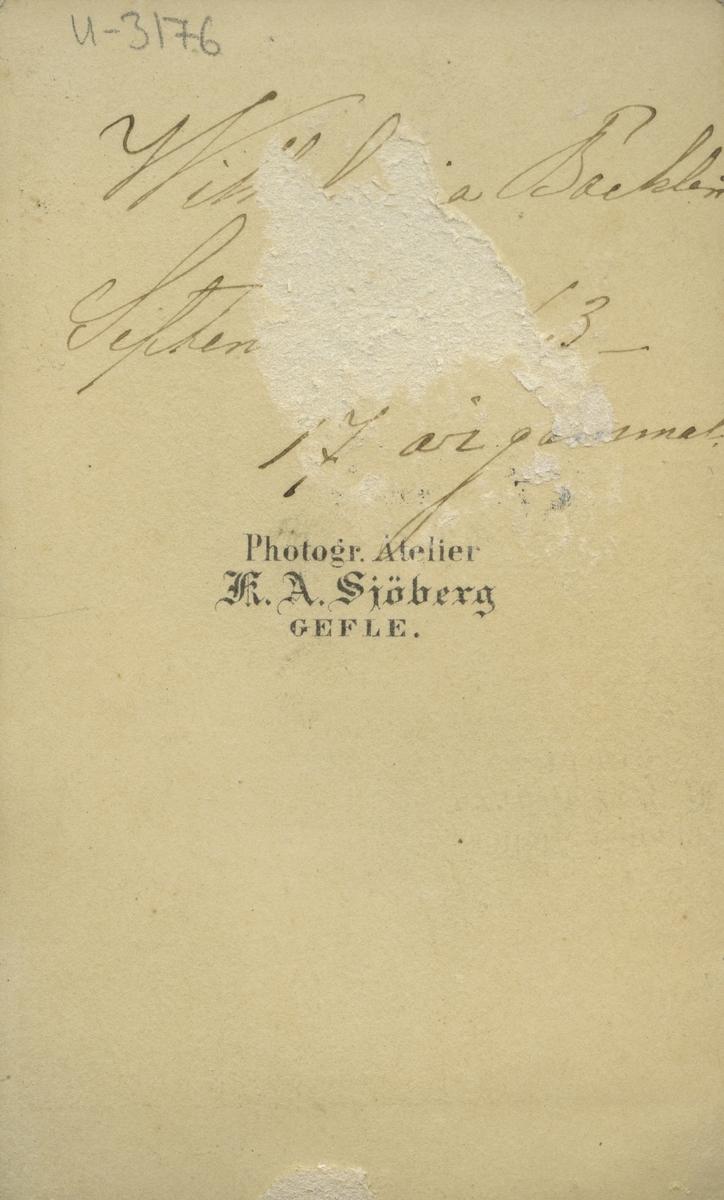 Mina Bäcklin, 1863.
