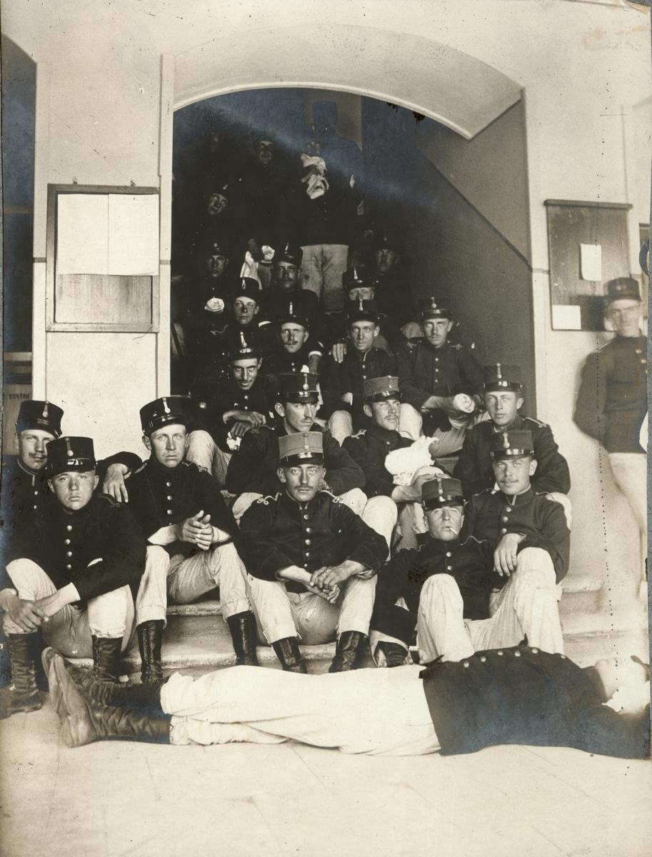 Soldater från Fortifikationen på Karlbergs slott, Stockholm.