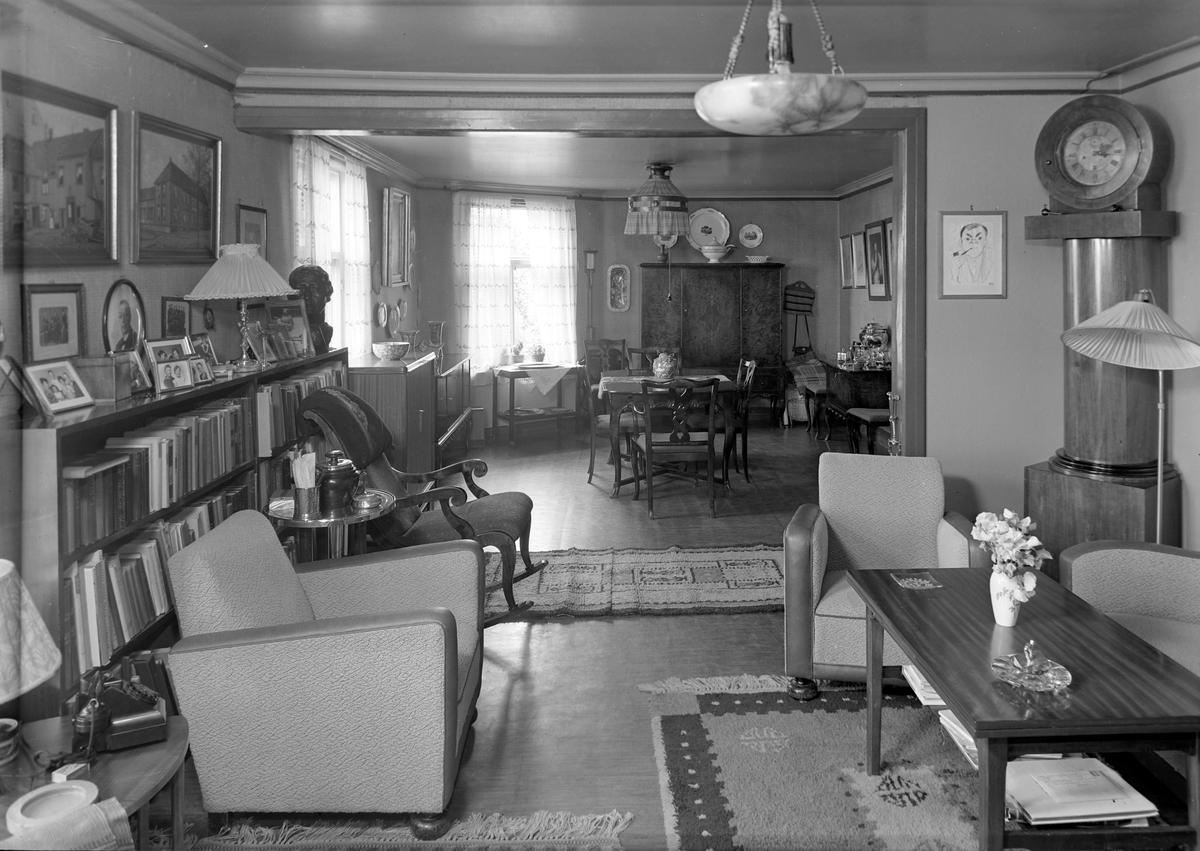 Interiør fra huset til høyesterettsadvokat  Andreas Claussen