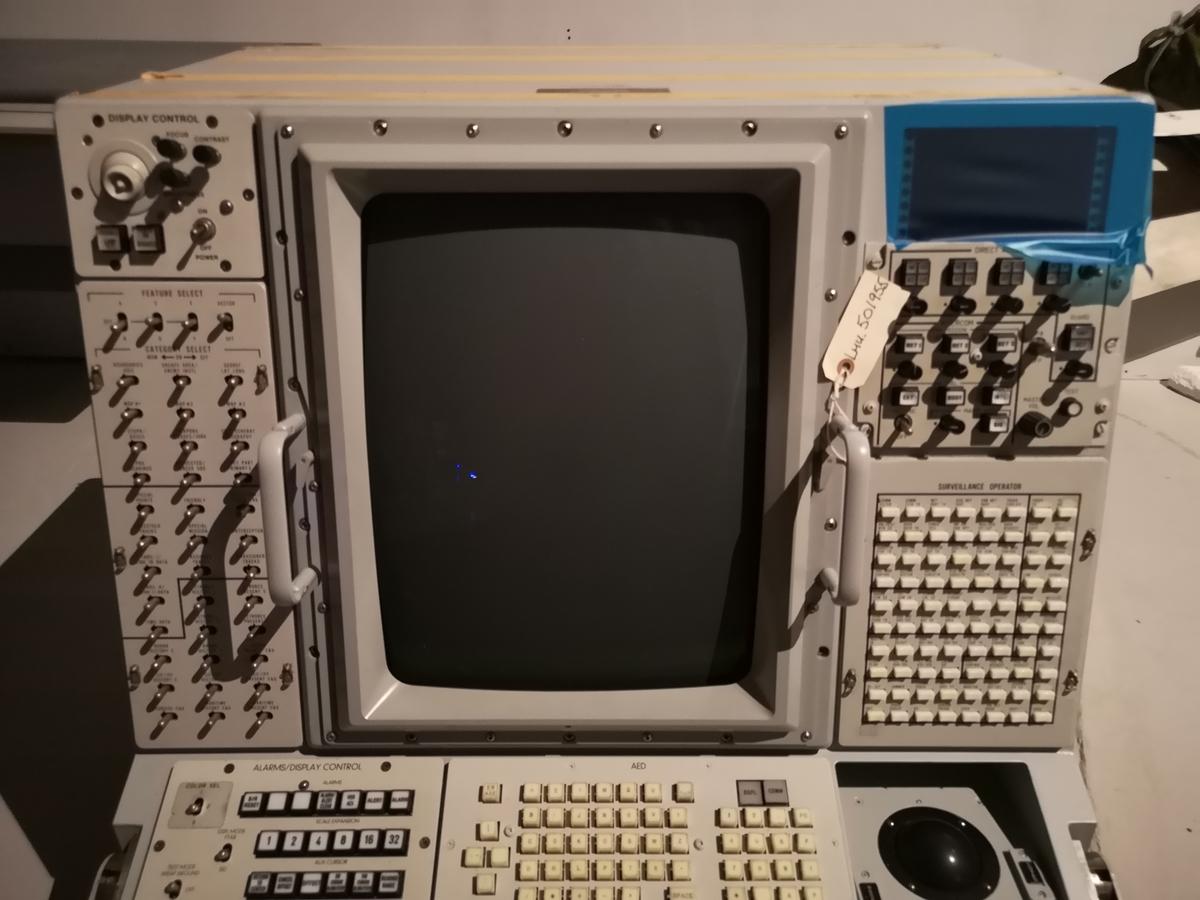 Display konsoll for å vise radrabilde ombord i E-3A/AWACS.