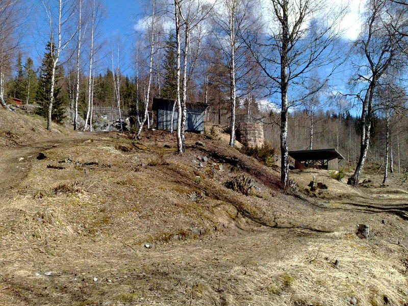 Rester etter Grua kalkverk i Østhagan. Foto: Randsfjordmuseet (Foto/Photo)