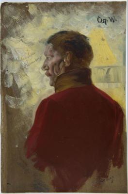 Studie av Eilert Waldemar Preben Ramm av Oscar Wergeland. 1882 – 1885. Eidsvoll 1814