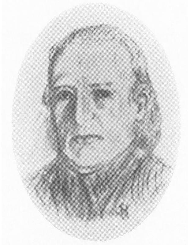 Doktor Niels Høegh (1805-1842). Tegning hentet fra Bygdebok for Skedsmo av H. Haavelmo.