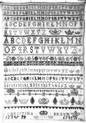 Brodert navneduk fra 1748 (Foto/Photo)