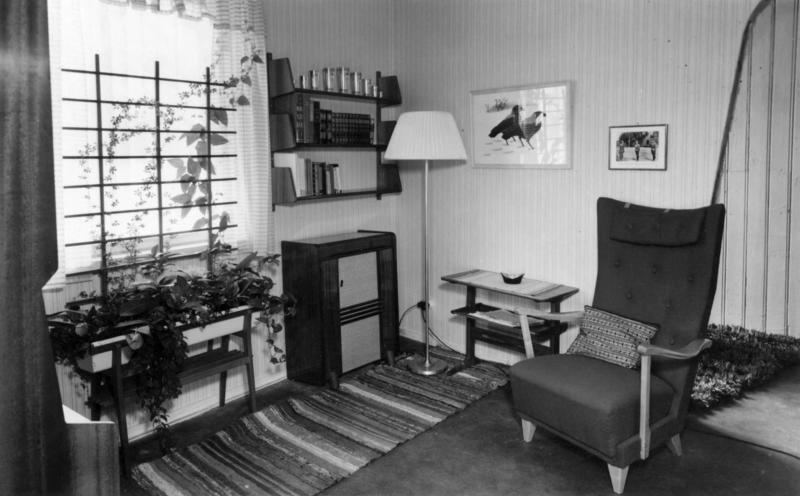 Interiør fra 1950 i utstillingen « Daglig Iiv i Oslo fra reformasjonen til våre dager». (Foto/Photo)