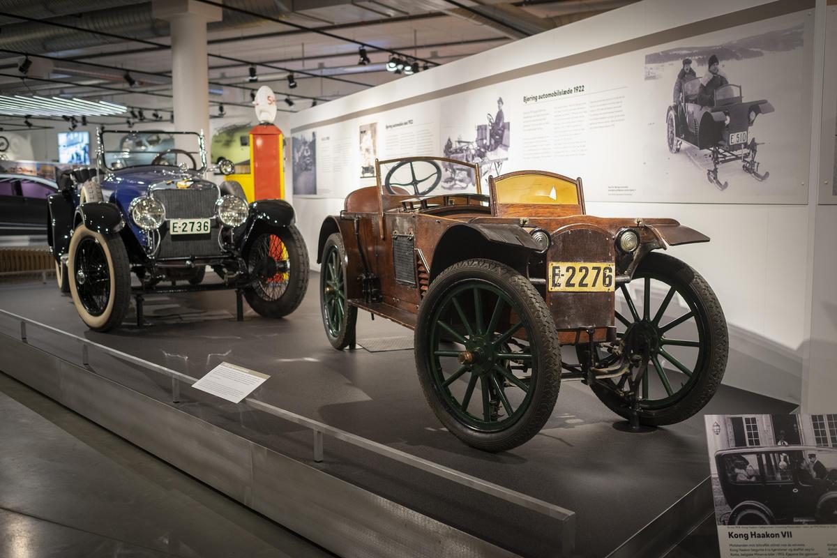 Kjøretøy på Norsk kjøretøyhistorisk museum. Foto: Morten Reiten. (Foto/Photo)