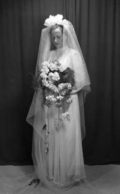Brud fra fotograf Erling Syringens samlinger, 1949 (Foto/Photo)