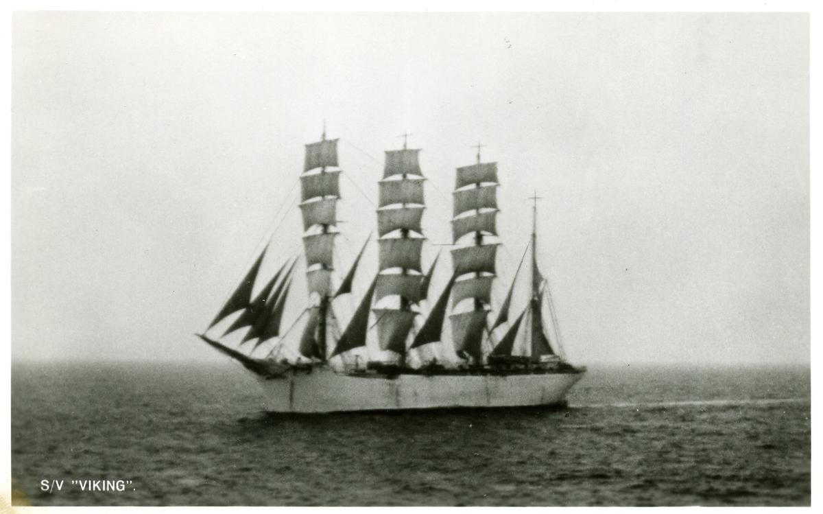 Fyrmastade barken Viking ägdes av Gustaf Erikson 1929 - 1951.